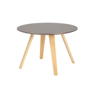 FLY-Table bronze pieds chene naturel