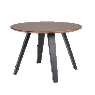 FLY-Table cuivre pieds multiplis de hetre laque noir