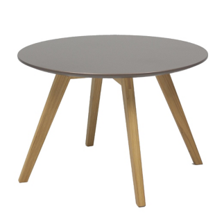 FLY-Table basse cuivre pieds chene naturel