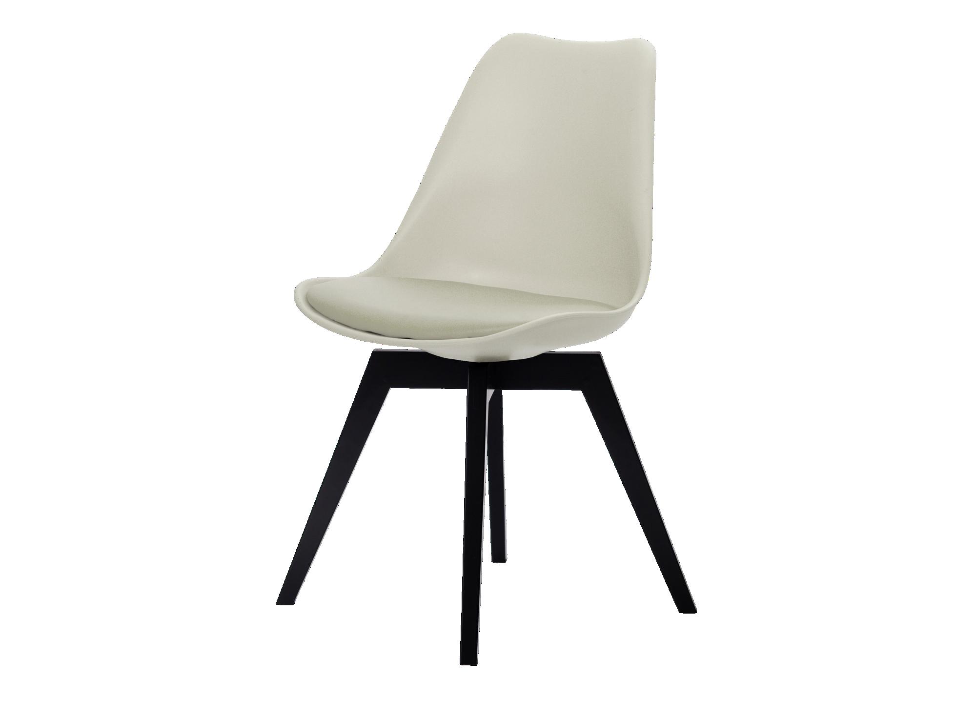 <p> coque de chaise en polypropylène beige. assise garnie de m ...
