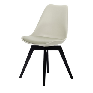 FLY-Chaise beige pieds noir