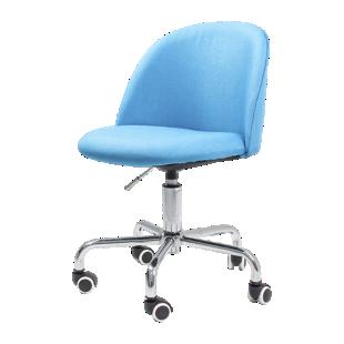 FLY-Chaise de bureau coque tissu bleu