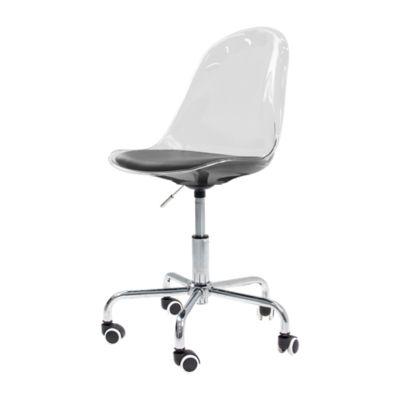 Chaise de bureau coque transparente Fly