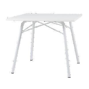 FLY-Table carée plateau blanc / pieds blancs