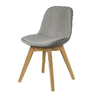 FLY-Chaise coque tissu gris