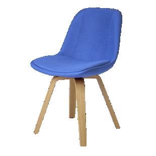 FLY-Chaise coque tissu bleu