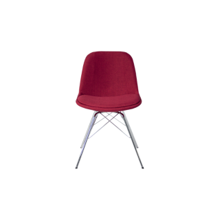 FLY-Chaise coque tissu rouge
