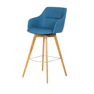 FLY-Tabouret de bar assise turquoise