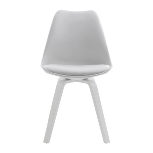 FLY-Chaise blanche pieds blanc