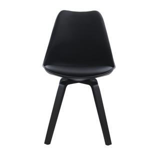 FLY-Chaise noire pieds noir