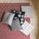 Coussin 40x40 revetu 100% coton garni 100% polyester coloris gris de ...