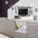 Living tv chene/blanc structure et facade en panneau de particules re ...