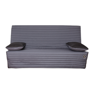 FLY-Banquette Clic Clac gris anthracite