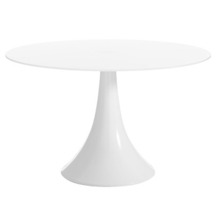 FLY-Table ronde blanc/blanc