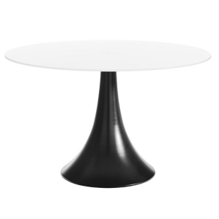 FLY-Table ronde blanc/noir