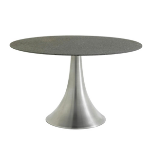 FLY-Table ronde gris/aluminium
