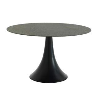 FLY-Table ronde gris/noir