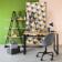 Bureau droit structure et pietement en acier finition epoxy coloris n ...