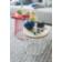 Set de 2 tables basse structure en acier laque coloris blanc. plateau ...